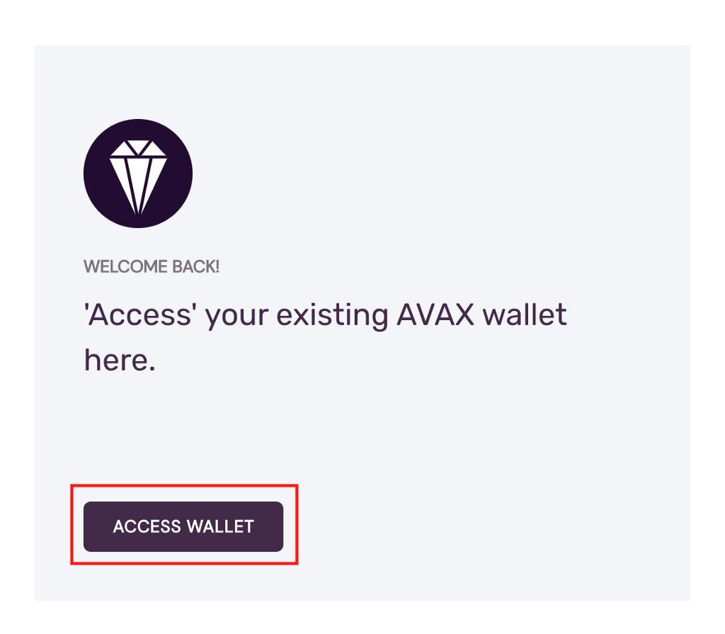 Access wallet button